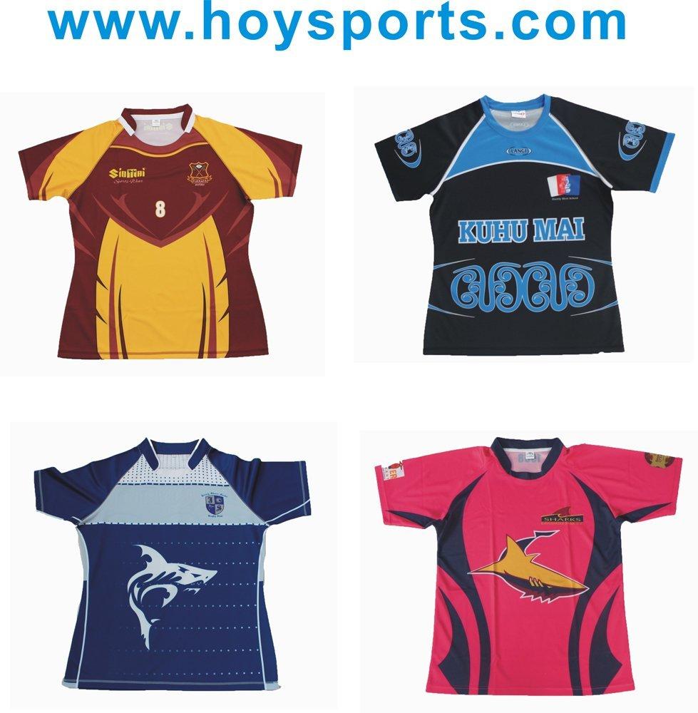 Custom Professional Rugby Jerseys in full tight/half tight